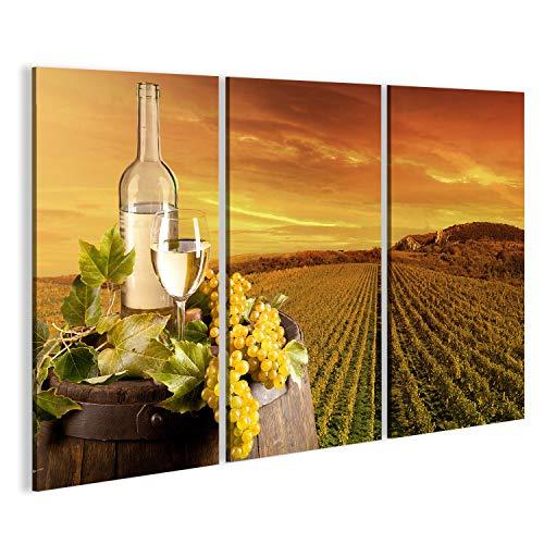 bilderfelix Cuadro Cuadros Detalle del Vino con Barril en el viñedo Tela de Lienzo fotografía HD FRI
