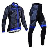 NAXIAOTIAO Men's Cycling Jersey Suits Long...