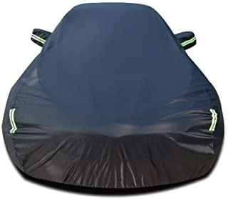 Car Cover Compatible with Porsche 911 Targa 4S Car Cover Waterproof Breathable Thick Sun Protection Rain Tarpaulin Canvas (Color : Black)