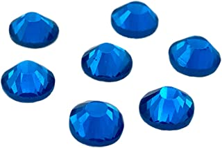 EIMASS® 7767 45 Colours 5 Sizes, DMC Hot Fix Glass Rhinestones, Flat Back Gems, Diamante with Glue Backing, Pack of 1440 Crystals