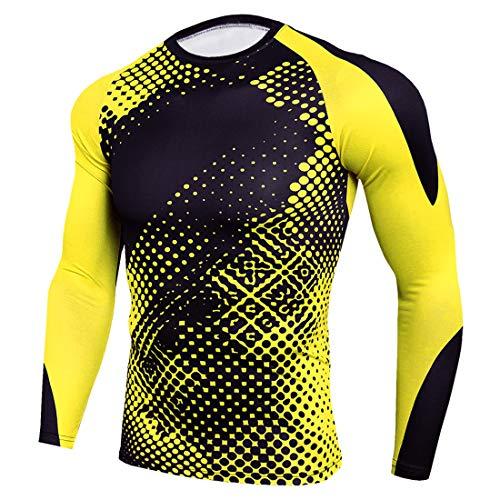 XWLY Men Shirt Men Sweatshirt Slim Fit Elastic Fiber Camouflage Comfortable Breathable Men Sweatshirt Spring Autumn Long Sleeve Fashion Fitness Jogging Riding Men Sweatshirt Yellow. M