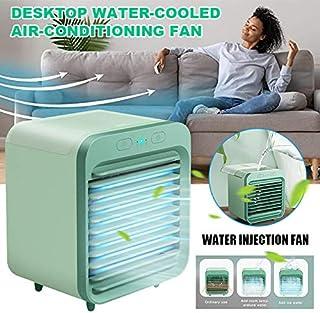 YUHQW Aire Acondicionado Portátil Recargable Refrigerado por Agua - Mini Ventilador De Enfriamiento De Sobremesa para Uso En Exteriores De Verano En Interiores