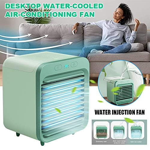 Valigrate Personal Air Conditioner Portable Air Cooler,Fan Rechargeable Water-Cooled Air Conditioner Desktop Cooling Fan Air Cooler for Summer Home