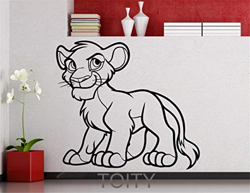 Simba Lion King Cartoon Decal Home Nursery Room Décoration Intérieure Enfants Garçon Art Studio Mural