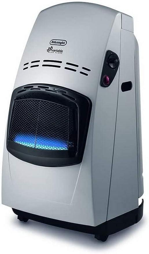 DeLonghi Estufa Catalitica Delonghi Vbf 4200W, Blue Flame, 4200 W, Acero Inoxidable, plástico, plateado