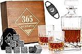 365ecstatic - Whisky Gläser - Whisky Stones Geschenk Set 14 teilig - Retro Look - Whiskey Karaffe 700ml - Hingucker in jedem Wohnzimmer