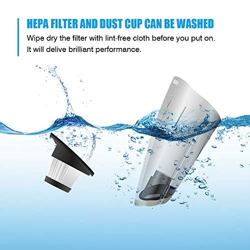 Aspirateur à Main Sans Fil,Aspirateur portable rechargeable 120W,5000Kpa,2200mAh,Aspirateurs a Main...