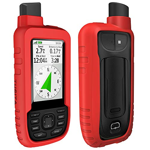 TUSITA Hülle Kompatibel mit Garmin GPSMAP 66s 66st 66sr - Silikon Schutzhülle Skin - Handheld GPS Navigator Zubehör