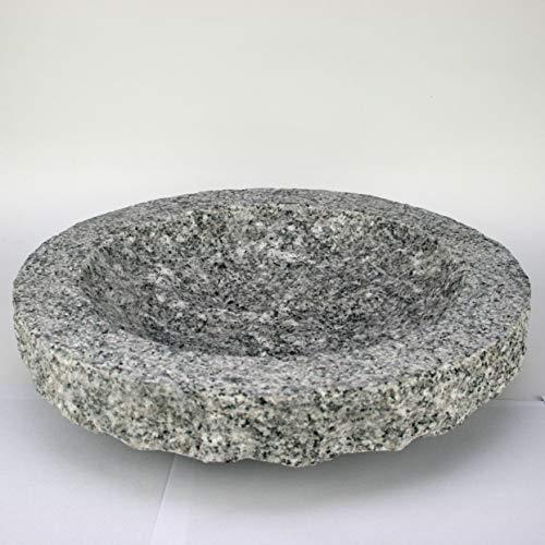 Gebrüder Lomprich Vogelbad aus Granit in Schalenform (ohne Vögele)