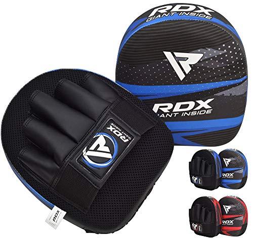 RDX Kinder Handpratzen Kampfsport Boxen Pads Schlagpolster Maya Hide Leder Junior MMA Kickboxen, Boxpratzen, Muay Thai Training, Boxpads und Schlagkissen (MEHRWEG)