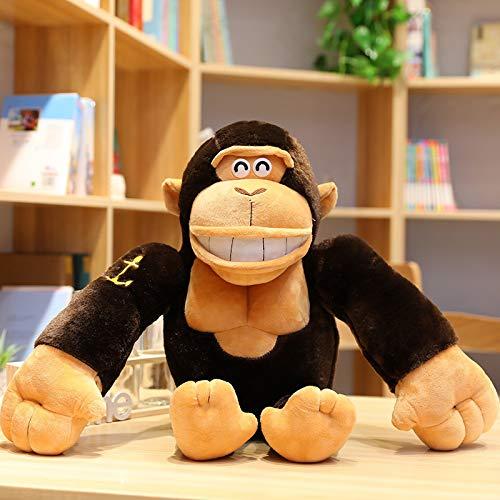 knuffeldieren,Gorilla Knuffel Zwarte Koning Pop Pop Slapen Kussen Bed Baviaan Pop Stap Pop Oversized Jongen 1 meter Bruin