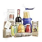 Cesto gastronomico 'DEGUSTAZIONI D'ITALIA', confezione regalo con prodotti tipici italiani, perfetto per Natale o qualsiasi altra occasione