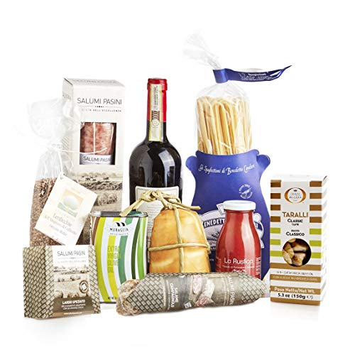 """Gastronomic Hamper """"TASTINGS of Italy"""", Gift Box with Typical Italian Products, Perfect for Christmas or Any Other Occasion"""