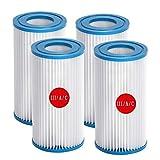 ZBCN Filtro para bombas de piscina Bestway III y Intex A/C, repuesto para filtro de piscina hinchable (10,7 x 20,3 cm) (4)