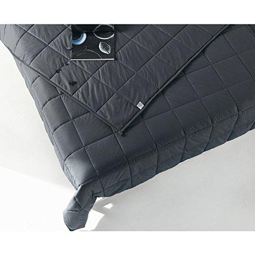 RelaxBlanket Premium Cotton Adult Weighted Heavy Blanket   60''x80'',15lb   Enjoy Natural Deep Sleep   Dark Grey