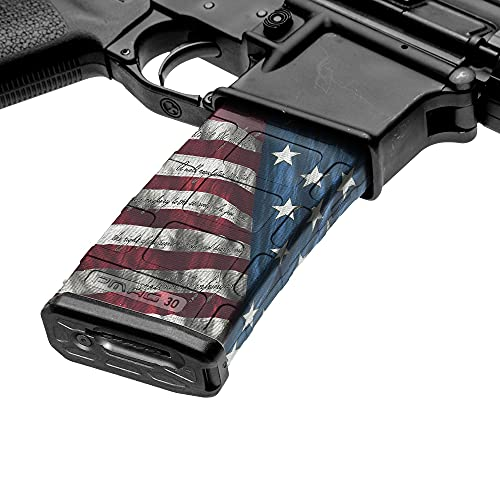 GunSkins AR-15 Mag Skin – Premium Vinyl Mag Wrap with Precut Pieces – Easy to Install and Fits 30rd Magazines – 100% Waterproof Non-Reflective Matte Finish – Made in USA – Proveil Victory
