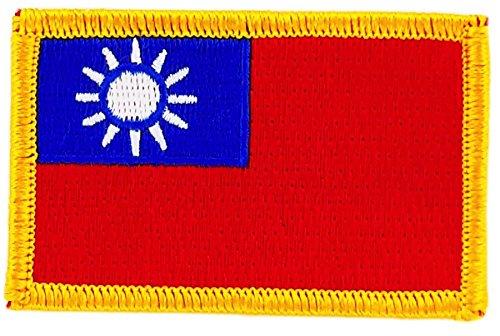 Opnaaier, geborduurd, vlag Taiwan, om op te strijken, voor rugzak