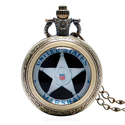 Marschallkette Männer Halskette Taschenuhr Marschall