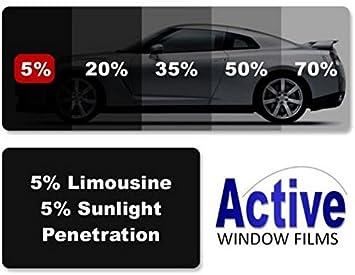 Active Film Limo Black Medium Light /& Ultra Light Car Auto Tint Window Tinting Film 20/% Medium Black 6mx50cm