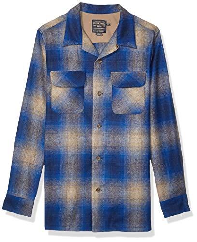 Pendleton Woolen Mills Herren Long Sleeve Fitted Board Shirt Button Down Hemd, Ombre Tan/Blau, Groß