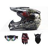 Motorradhelm, Outdoor-Dirt-Fahrradhelme, Fullface-Motocross-Offroad-Helm Four Seasons Universal...