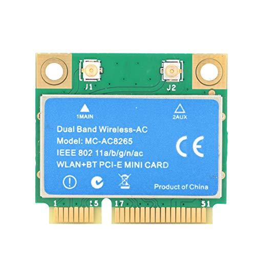 Mini Tarjeta PCI-E 1200M 2,4 GHz / 5 GHz de Doble Banda para Intel 8265 Chip Tarjeta de Red inalámbrica MC8265, Tarjeta de Red de Doble Banda para Linux/Windows 10/8.1/8/7
