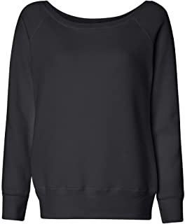 Canvas Sponge Fleece Wide Neck Sweatshirt (7501)