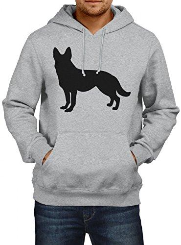 Shirt Happenz Schäferhund #1 Premium Hoodie | Hunde | Dogs | Herrchen und Frauchen | Herren | Kapuzenpullover, Farbe:Graumeliert;Größe:S