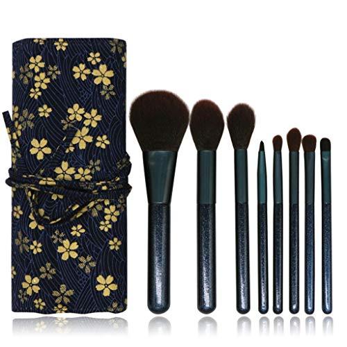 WINJIN Pinceau de maquillage 8PCS Set cosmétiques Crayon Lip Liner Maquillage Kit Brosse de maquillage avec étui de rangement