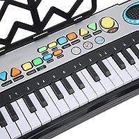 電子キーボード、女の子の男の子のための初心者のための早期学習教育ギフトのための外部マイク付き多機能電子キーボードピアノ