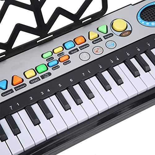 Teclado eletrônico de piano, função de aprendizagem de teclado de piano elétrico digital multifuncional portátil para aprendizado precoce. Presente educacional para iniciantes