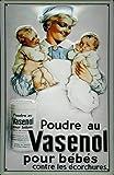 Vasenol Babies Placa de Metal Tin Sign 20 X 30CM