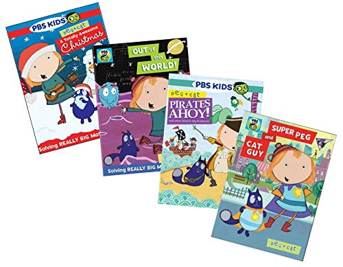 Ultimate PBS Peg + Cat 4-DVD Learning Collection: A Totally Awesome Christmas / Out Of This World / Pirates Ahoy / Super Peg And Cat Guy [Educational]
