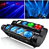 Moving Head LED Light,Betopper 8x8W RGBW 4 In 1 LED Stage Light Moving Beams Rotating, DMX-512 Portable DJ Light LED Lighting for Concert,Party,Stage,Restaurant etc.