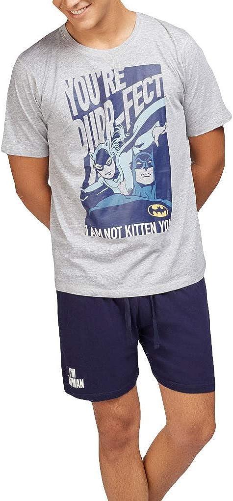 GISELA - Pijama Batman Hombre Hombre Color: Gris Talla ...