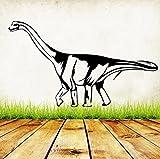Etiqueta engomada de la pared del patrón del dinosaurio para la sala de estar Dormitorio Fondo Animal salvaje Diseño de la pared Pegatinas de vinilo extraíble Decoración 72x4