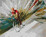 DIY Paint by Numbers for Adults Mountain Bike Acrylic Oil Paint by Number Kit for Kids Beginner On Canvas Art Crafts for Home Wall Decoration 40X50cm Frameless