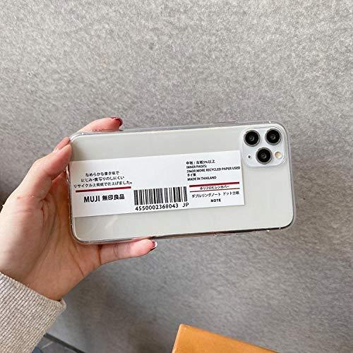 La caja del teléfono móvil con etiqueta personalizada es adecuada para la funda transparente anti-caída del teléfono móvil iPhone11 / 7 / 8plus-Barra horizontal iPhone7plus / 8p