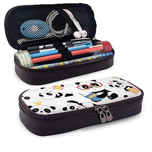 Estuche para lápices de gran capacidad, con múltiples compartimentos para niños y niñas, diseño de panda, tradicional, asiático, lindo, china, bebé