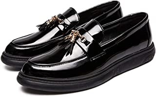 2019 Mens New Lace-up Flats Men's Comfortable Slip On Classic Fashion Oxford Casual Tassel Patent Leather Formal Shoes