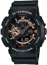 Casio G-Shock Classic Series Ga-110Rg-1A - Reloj de pulsera, color negro y oro rosa