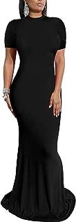 Women's Sexy Short Sleeve Elegant Bodycon Party Mermaid Maxi Dress