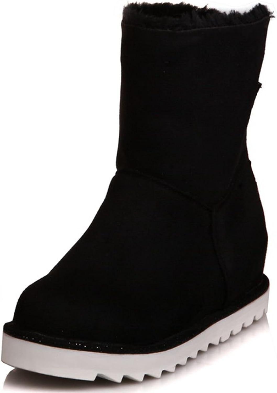 DoraTasia Cow Leather Nubuck Faux Fur Platform Women's Ankle Boots