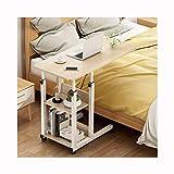 RTYU Mesa auxiliar ajustable para computadora portátil, para cama, sofá, hospital, lectura, mesa auxiliar (color: 80 x 40 madera de arce cerezo)