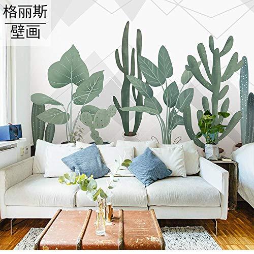 3D behang hand beschilderde orchidee bloem vlinder achtergrond muur genade Scandinavische Custom moderne minimalistische kleine frisse wind plant Cactus achtergrond muur thee winkel slaapkamer behang 250cmx175cm