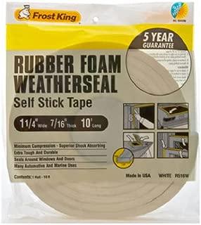 Frost King R516WH Sponge Rubber Foam Tape 7/16-Inch, White