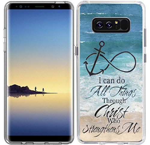 Galaxy Note 8 Case & MUQR Flexible Gel Silicone Slim Drop Proof Protection Compatible Cover for Samsung Galaxy Note 8 & Bible Verses Christian Theme Anchor