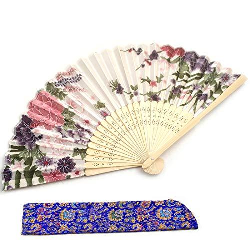 Handfläkt för kvinnor vikbara fans vacker målning handhållen fläkt silkefans bärbar för handväska kinesisk japansk stil bröllopspresenter liten fläkt små gåvor för kvinnor