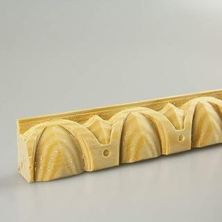 Bilderleiste Falzleiste Abschlussleiste Zierleiste Rundprofil aus unbehandeltem Kiefer-Massivholz 2400 x 15 x 20 mm
