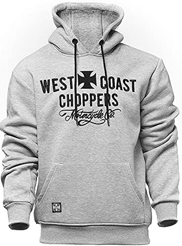 West Coast Choppers Motorcycle Co. - Sudadera con capucha, color gris, XL